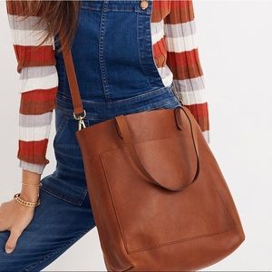 New Madewell The Medium Transport Tote Leather